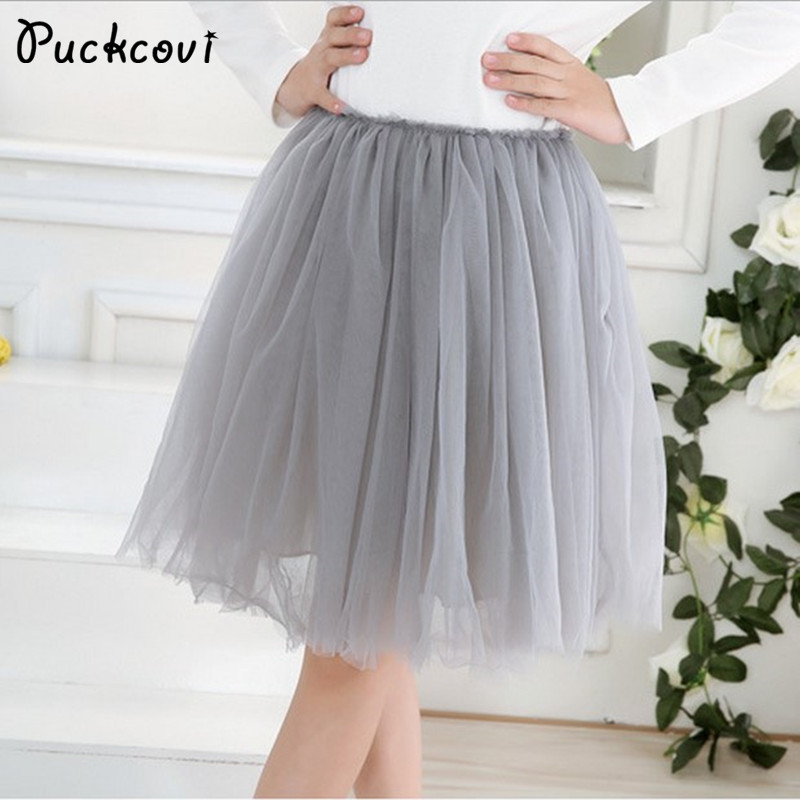 Girls skirts Children Pleated tutu skirt Girl multilayer grenadine ra-ra skirt sweet princess design elastic waistband Ball gown pleated full length skirt