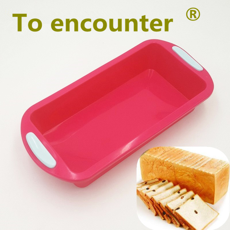 To encounter 30.5*15.5*5.5cm 194G Big Square Quadrate Shape 3D Silicone Cake Mold Baking Loaf Pans DIY Bread Pans Baking Tools