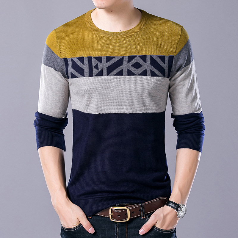Strickpullover Men 2017 Autumn New Men s Long Sleeves Sweaters Men Mens  Cashmere Sweater Korean Sweater Men-in Pullovers from Men s Clothing on ... 2f85da3433