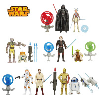Star Wars(Pack of 2)Darth Vader Stormtrooper Boba ett Yoda Obi Wan bb8 R2 D2 C 3PO C1 10P Action Figure Gift Toy For Children