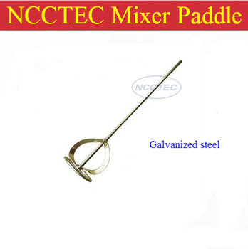 NCCTEC paint mixer paddle shaft with square handle for electrical HAMMER machine | diameter 4'' 105mm, length 24'' 600mm