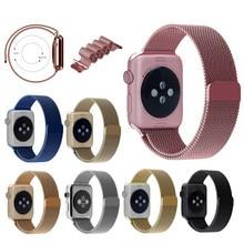 Superventas milanese loop band para apple watch38mm cierre magnético 42mm, para apple watch band 8 colores disponibles