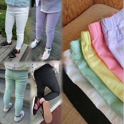 2016 детская одежда осень моды конфеты цвет брюки девочка леггинсы брюки карандаш брюки все-матч