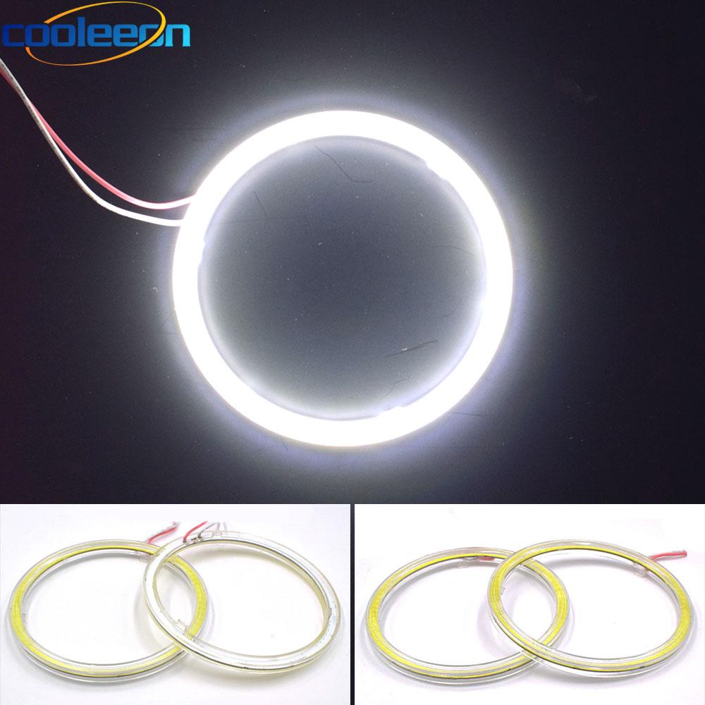 12V Round COB LED Bulb Angel Eye For Car DRL Decor Lights 60mm 70mm 80mm 90mm 100mm 110mm 120mm Auto LED Headlamps COB Fog Lamp