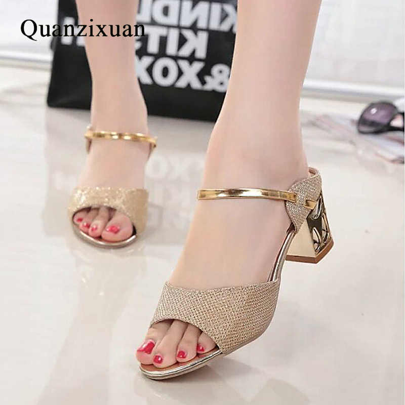 femmes sandales pour des Commentaires à talons à Détail Quanzixuan propos n8TSxAR