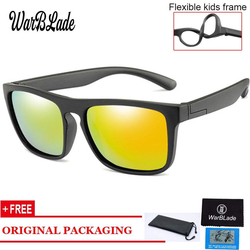 041941b420e22 Óculos de sol Polarizados Crianças Crianças Clássico Marca Designer Óculos  TAC TR90 Shades Quadro de Segurança Flexível Para O Menino Menina
