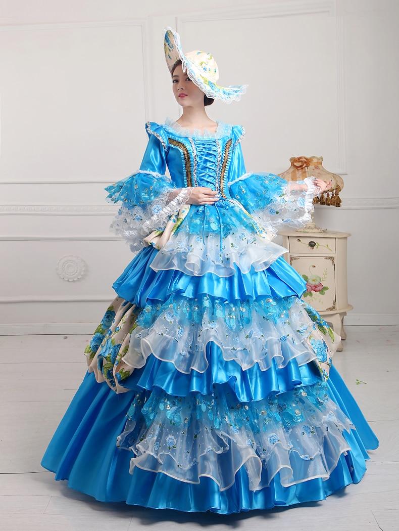 Medieval Wedding Dress Renaissance Victorian Lolita Ball Gown Rococo ...