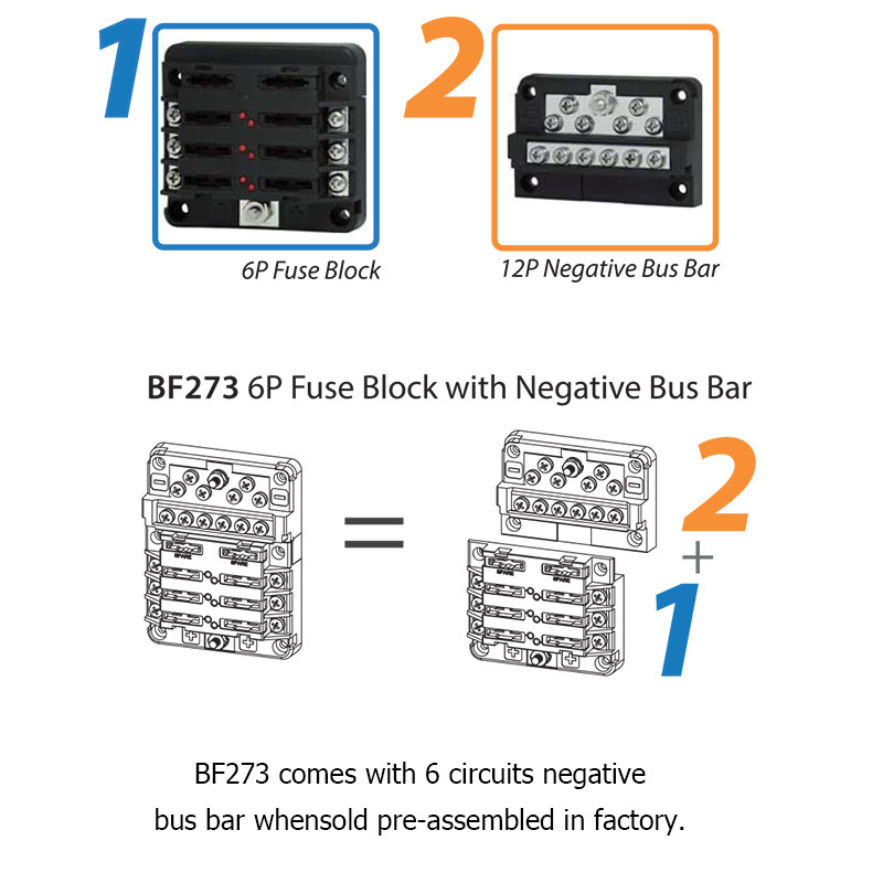 Image 5 - 12 Bit Negative Common Box Modular Design Blade Fuse Block LED indicator For Car RV Boat Fuse Box With Lamp-in RV Parts & Accessories from Automobiles & Motorcycles