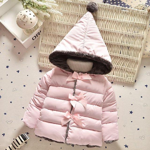 High quality 2017 new winter clothes kids outerwear baby girls parkas fashion Snow Wear babys Hoodies clothing hot sale