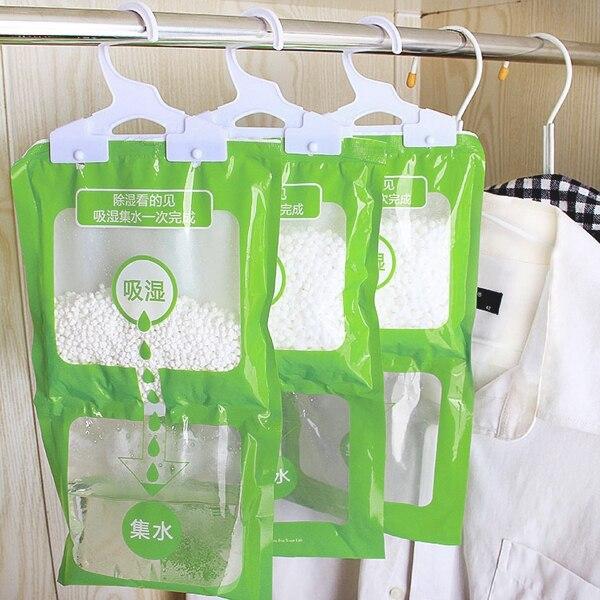 Hanging Closet Wardrobe Bathroom Anti-mold Moisture Absorbent Dehumidification Desiccant Bag Hygroscopic Pack For Wardrobe 1pc