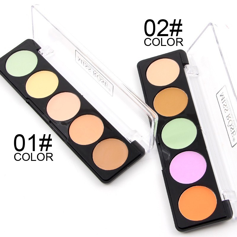 High Quality New Professional 5 Color Concealer Palette Make Up Cream Camouflage Foundation