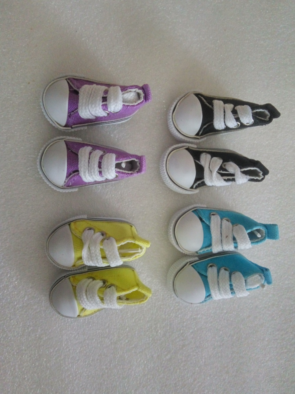 5cm 1 Pair Fashion Canvas Shoes Sneackers For BJD Doll Mini Toy for Doll Shoes for Russian Doll Accessories