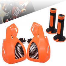 Motorcycle Handguards Hand Guard Protector protaper handlebar grips for KTM KX65 125 SX 400 EXC-F DUKE 200 390 XCW SMR Dirt Bike mostorcycle vision led handguards hand guard with light fit supermoto for ktm adv duke lc4 200 640 690 990 smr free shipping