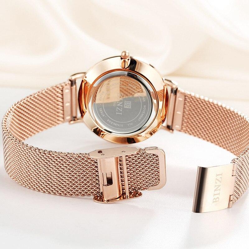 Карнавал ультра тонкие 6 мм миланские кварцевые женские часы TopBrand Роскошные сапфировые кристаллы минималистичный дизайн модные relogio feminino - 3