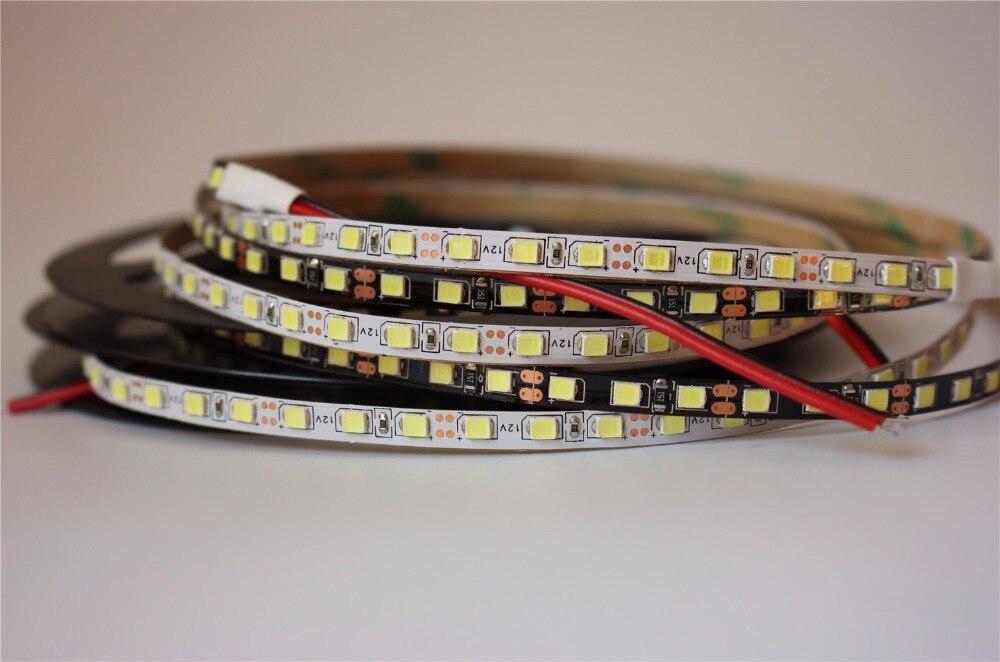 IP20 Narrow side 5mm LED Strip Light 2835 SMD flexible diode tape lamp White/black PCB 120leds/m DC12V tiras led ribbon aiunci 60ledsm 5mlot ip20 white pcb
