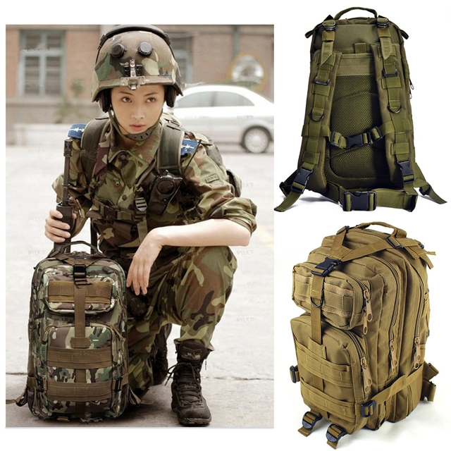 2015 Hot sale !! Men Outdoor Military Tactical Backpack Camping ...