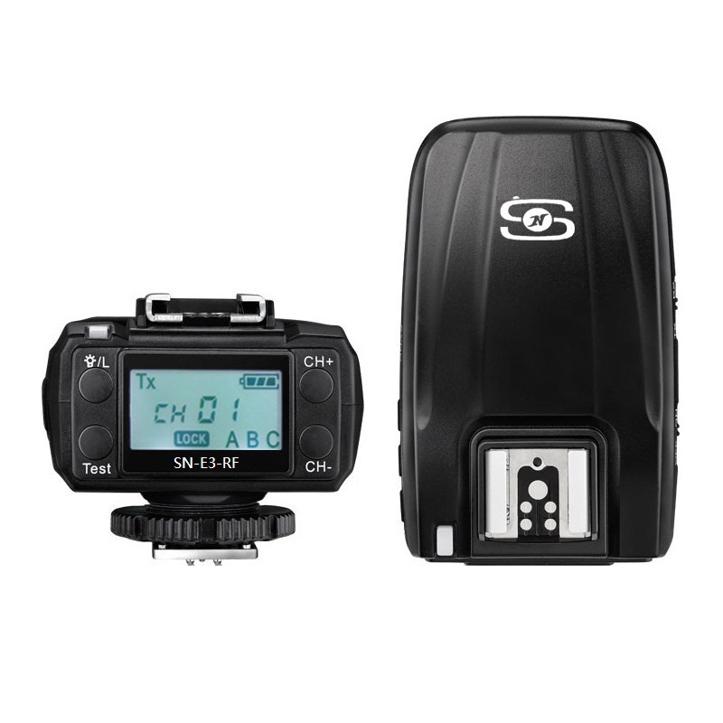SHANNY SN-E3-RF 2.4G Radio sans fil 2 x émetteur-récepteur pour Canon et SN600C-RF Flash