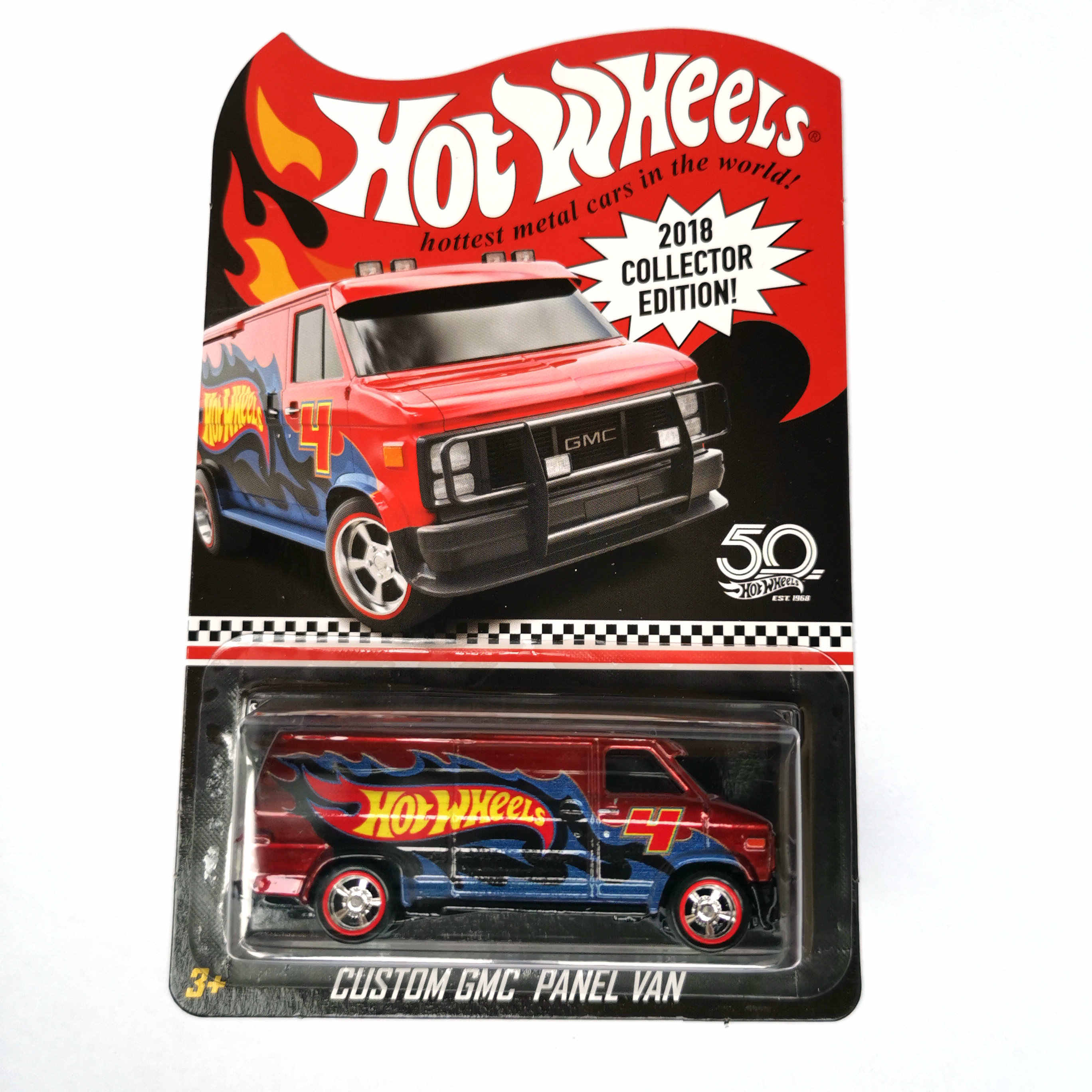 Hot Wheels Mobil Merah Garis Klub 70 Chevy Blazer GMC Chevelle Kolektor Edition 50th Anniversary Logam Diecast Model Mobil Anak-anak mainan
