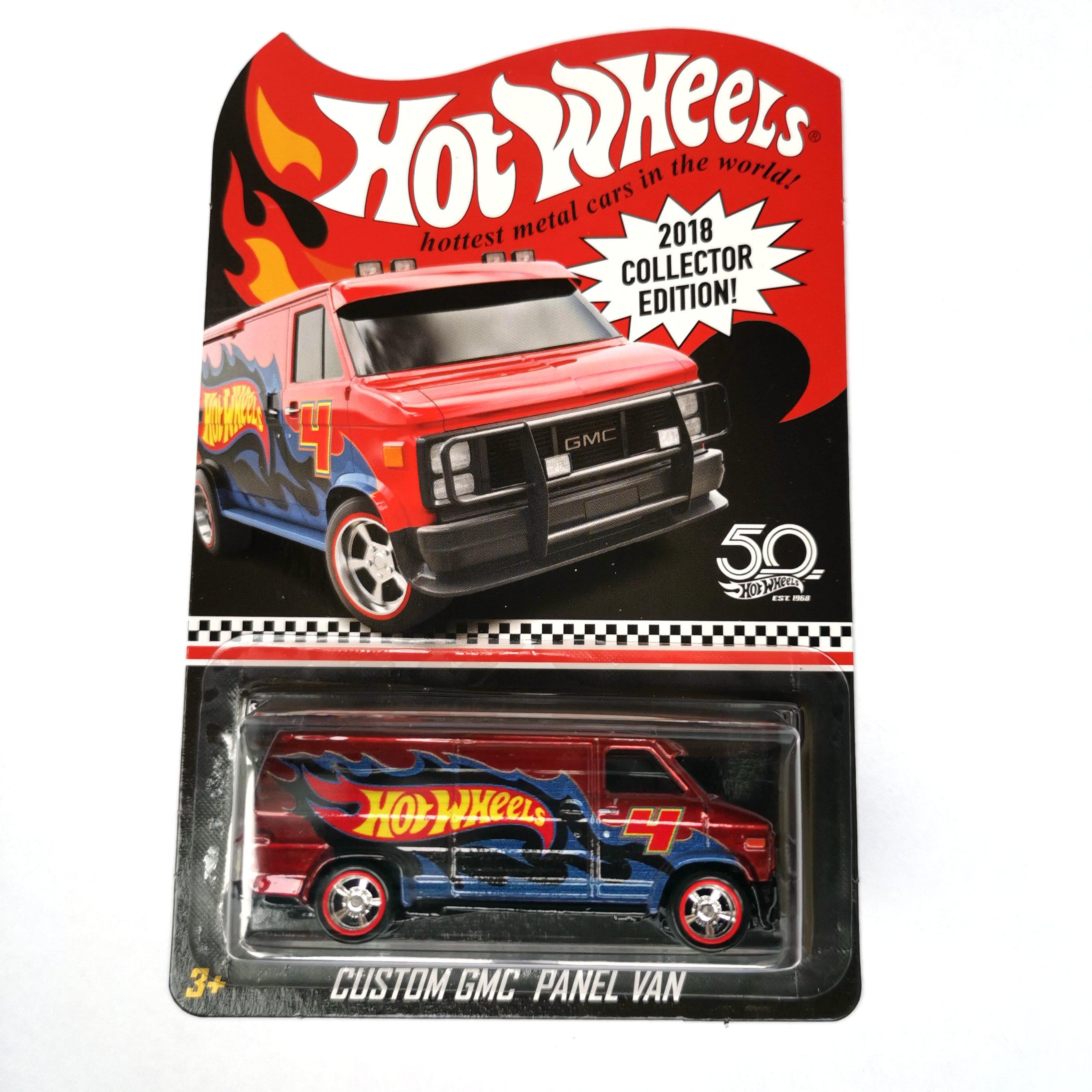 Hot Wheels Carro Linha Vermelha Clube 70 BLAZER GMC CHEVY CHEVELLE Collector Edition 50th Anniversary Metal Diecast Carros Modelo Crianças brinquedos