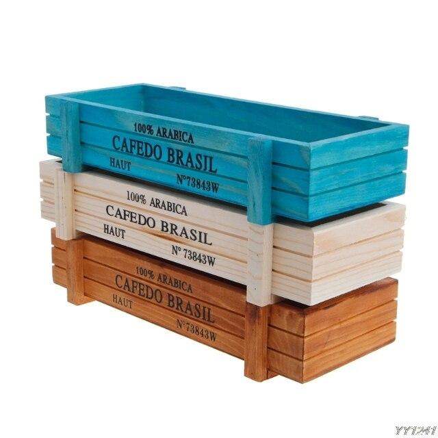 Горшок для садового растения декоративные винтажные суккулентные деревянные ящики прямоугольный стол цветок садовый горшок Device-W110