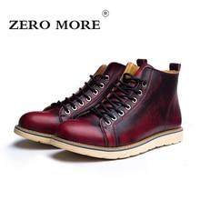 CERO MÁS Nuevas Llegadas Otoño Hombres Botas Hombres Tobillo Botas de Los Hombres Clásicos Zapatos de Cuero Partido de Alta Calidad tamaño 38-47 # ZM106
