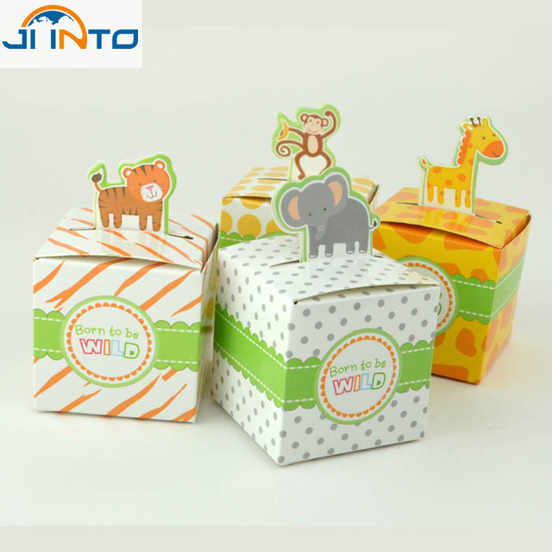 Wedding Party Candy boxes 10Pcs animal shaped Baby shower Favors Gift Box Lowest price