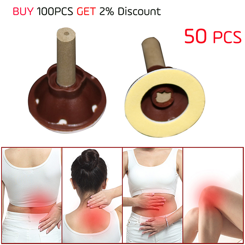 50PCS Acupuntura Moxibustion Wormwood Stick Vacuum Cupping for Back Knee Joint Pain Relife Body Massage Relaxation Health Care bone joint pain liquid calcium with vitamin d3 body relaxation