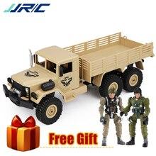JJRC Q63 1:16 RC 軍用トラックラジオ機 6WD オフロードクローラ追跡 Led ライト RTR リモートコントロールカーおもちゃ子供のため