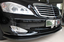 W221 Carbon Fiber Front  Lip  Spoiler  For S Class W221 07-09 Of The CS Style( Fit Non AMG Model Only)