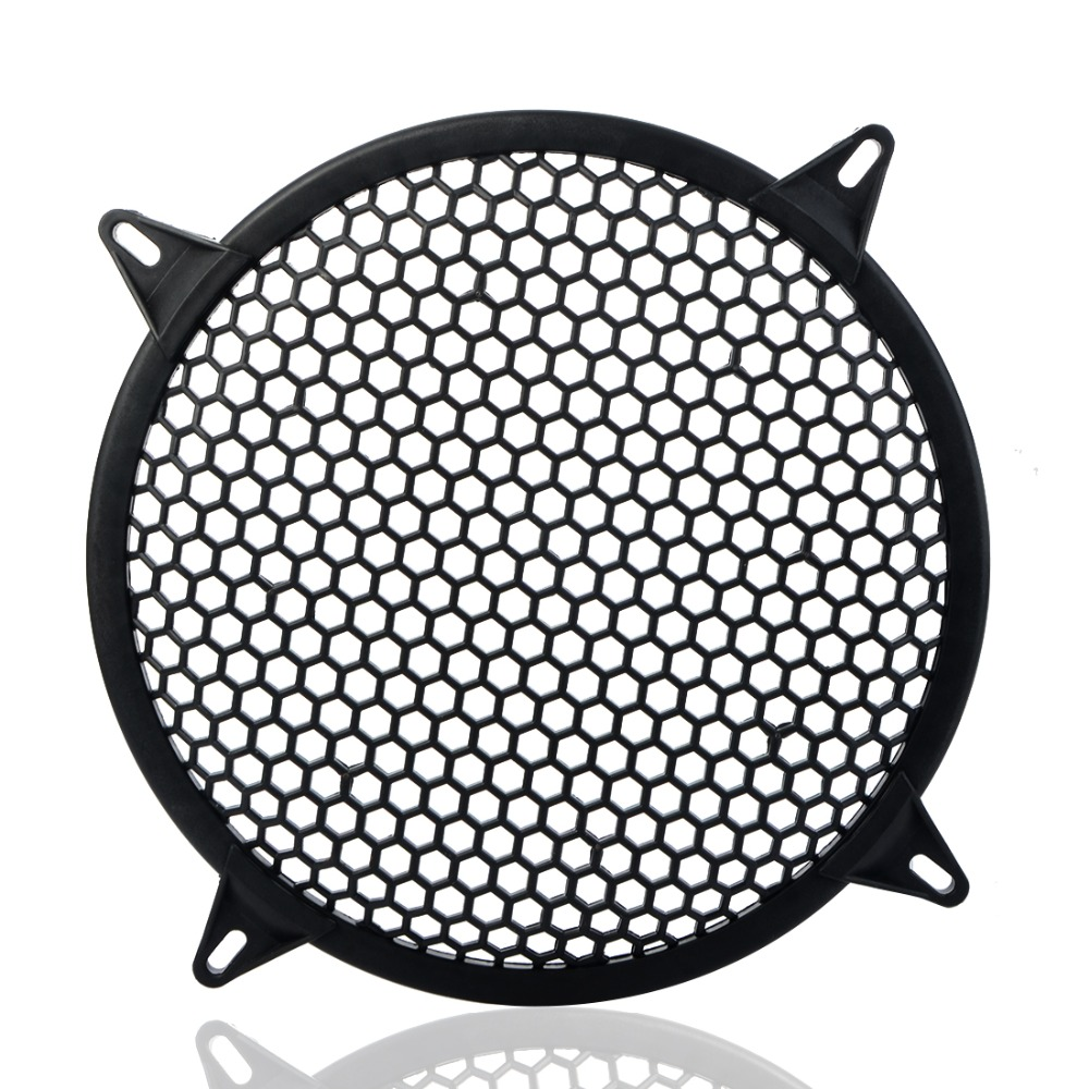 Car Audio Speaker Sub Woofer Grille Guard Protector Cover 6 Inch Black Metal Mesh Round Car Subwoofer Speaker Cover