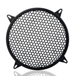 Car Audio Speaker Sub Woofer Grille Guard Protector Cover 6 Inch Black Plastic Mesh Round Car Subwoofer Speaker Cover