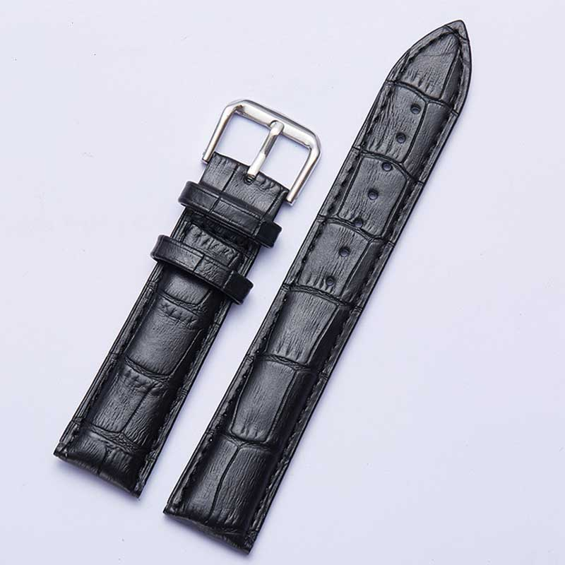 High Quality 20mm Leather Band Watch 22mm Men Women Brown Waterproof Watchband 16mm Genuine Steel Buckle Black 18mm Strap high quality milan stainless steel watchband 20mm 22mm men and women black brown watch strap for breitling strap bracelet