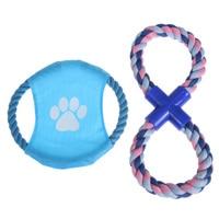 Flying disc rope chew giocattolo per il cane divertente Chew Knot Cotton Bone Corda Cucciolo di Cane giocattolo Animali cani per i piccoli cani per puppys