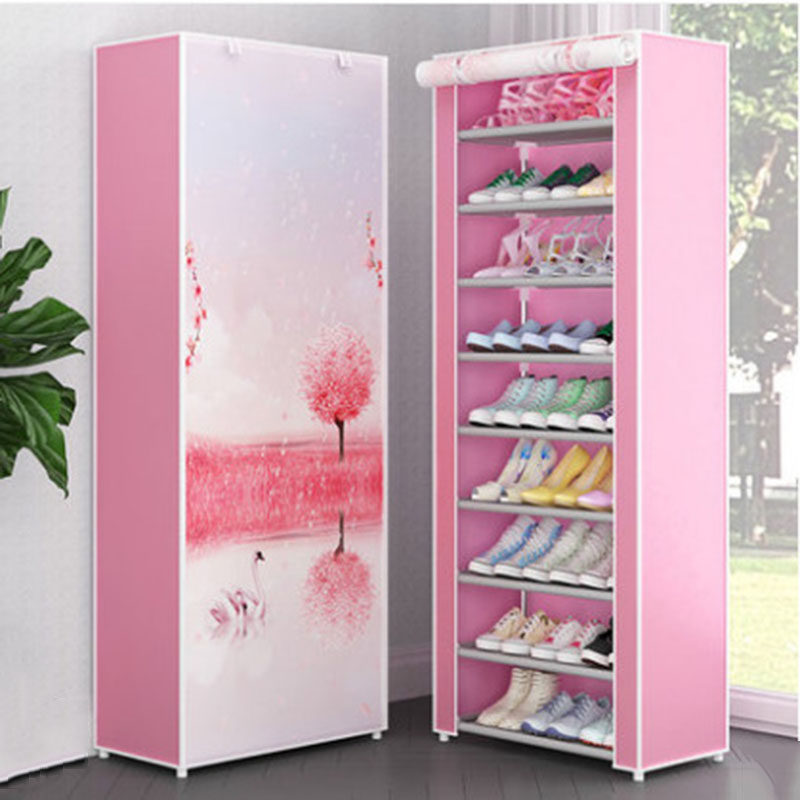 Multi-layer Shoe Rack Dustproof Non-woven Cloth Fabric Assembly Shoe Storage Cabinet Stand Holder Space Save Shoe Organizer Rack