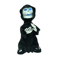 Cool Movable Halloween Tricky Skeleton Toy Dance With Flash Terrible Death Character Trick Or Treat For