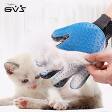 ФОТО pet silicone deshedding brush glove for pet cleaning massage grooming comb hair cleaning brush washing cleaning massage glove
