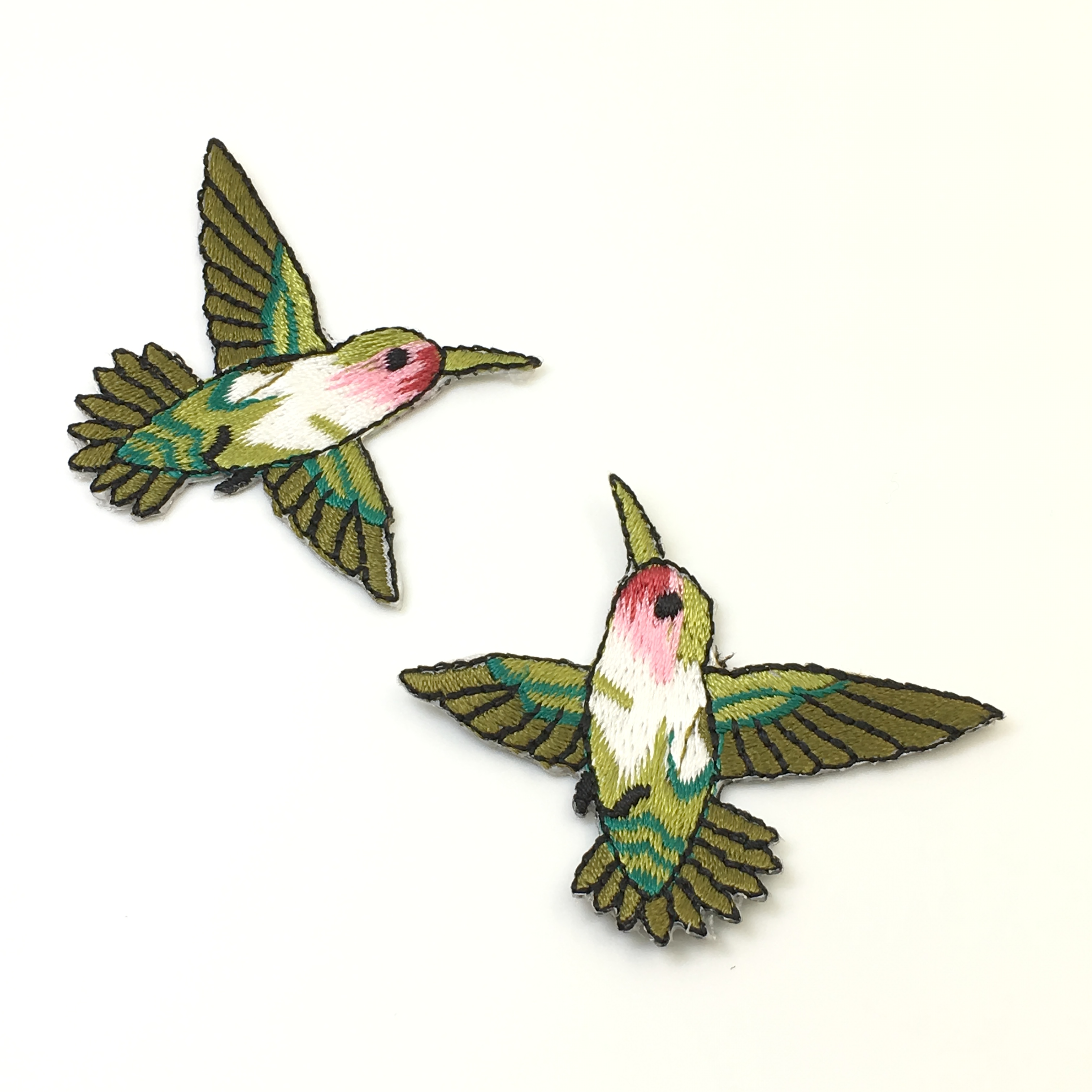 Hummingbird Iron On Patch Birds