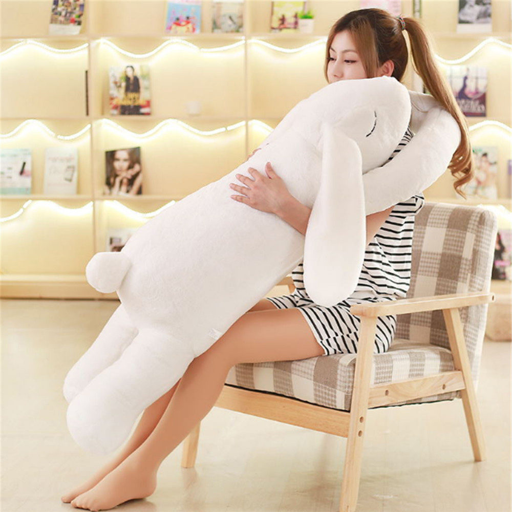 Fancytrader New 47'' / 120cm Jumbo Soft Plush Stuffed Longer Ears Rabbit Bunny Toy, Nice Gift For Babies, Free Shipping FT50532 fancytrader 120cm super lovely jumbo plush shar pei dog toy large dog doll sleeping pillow gift for child free shipping ft50048