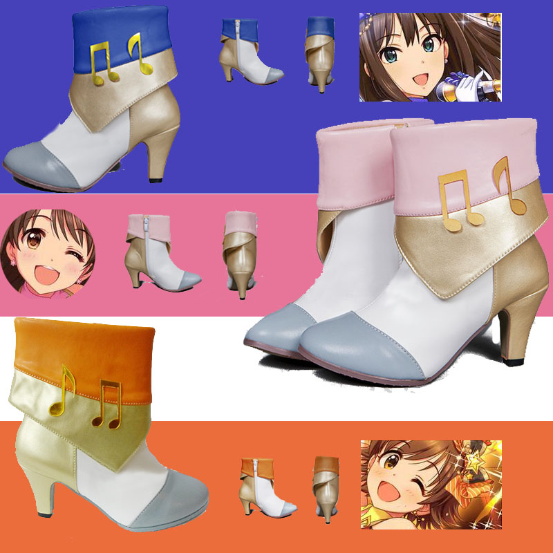 Size 36-39 Cosplay Shoes Anime THE iDOLM@STER Cinderella girls Uzuki Shibuya Rin Mio in stock free shipping NEW 2017