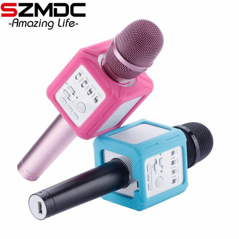Q9 Karaoké Microphone Sans Fil Bluetooth Haut-Parleur De Poche Karaoké Portable Lecteur de Musique de Poche KTV Chant Soutien IOS Android