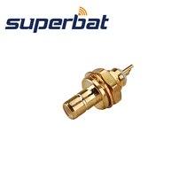 Superbat DAB спутниковый радио разъем SMB Панель Крепление Jack женский с гайкой и припоем Кубок обжимной для RG316 RG174 KMR100 10 шт