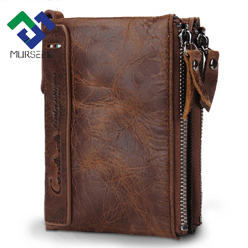 2017  Genuine Crazy Horse Cowhide Leather Men Wallet Short Coin Purse Small Vintage Wallet Brand High Quality Vintage Designer 2017 genuine cowhide leather brand women wallet short design lady small coin purse mini clutch cartera high quality