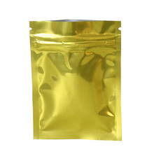 100pcs/lot Heat Seal Aluminum Foil Zip Lock Bags Food Grade Packing Bag Resealable Gold Mylar Package
