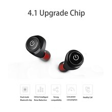 Sports In-Ear Earphone Wireless Bluetooth Mini Headset Dual Ear Stealth Bluetooth Headset For Iphone Sumsang Smart Phones(China)