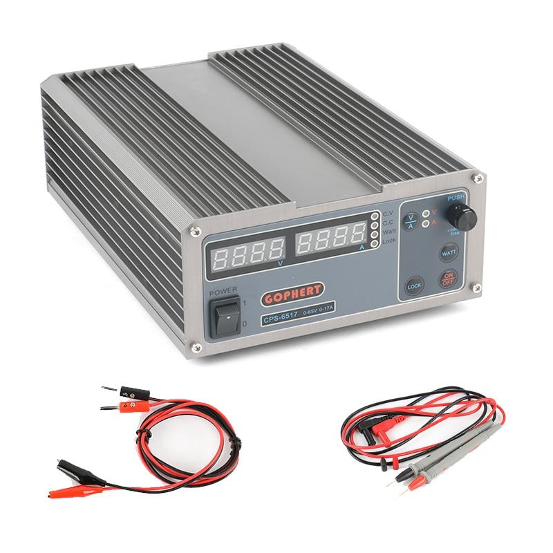 цена на CPS-6517 Precision Digital Adjustable DC Power Supply MCU PFC Compact Laboratory Switching Power Supply 65V 17A 220V