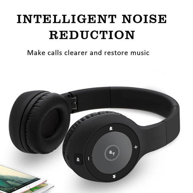 40Hours Bluetooth Headphones Wireless and Wired Headset Stereo Bass Sound Noise Cancelling Headphones With Mic For All Phones