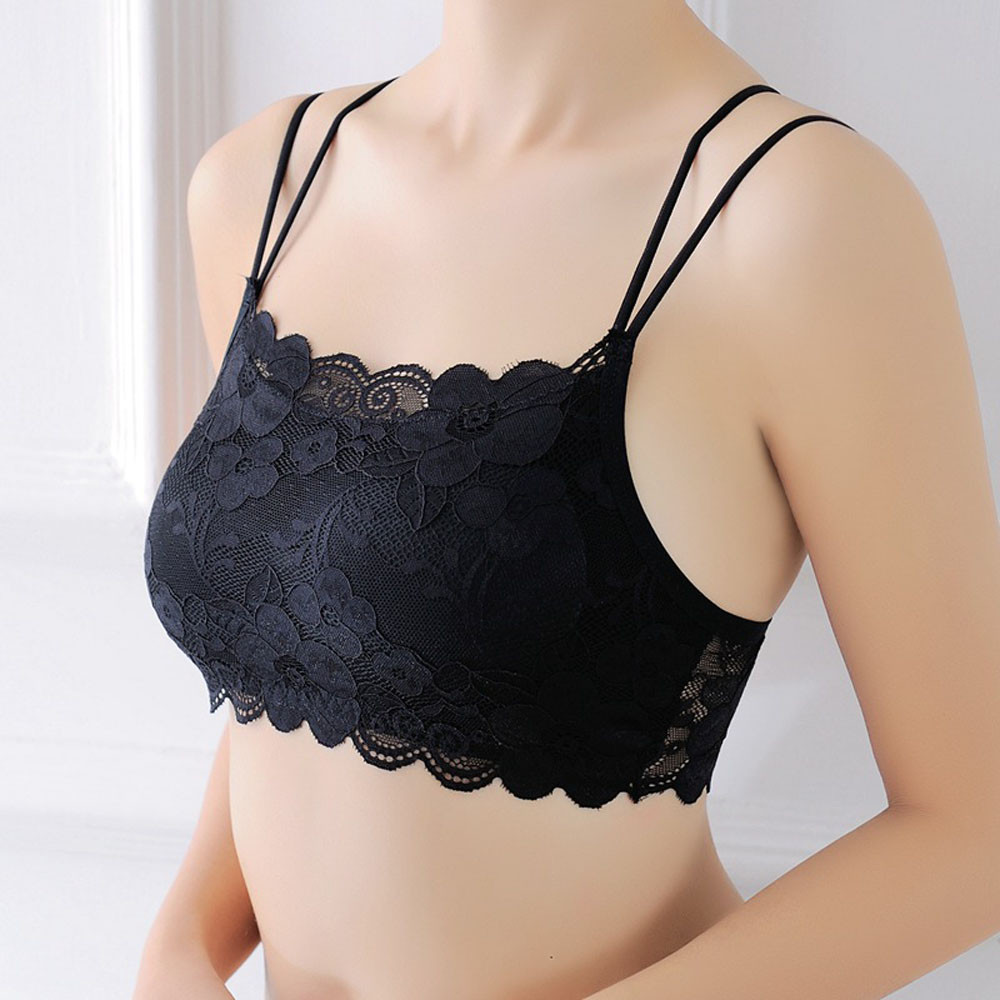 1PC One Size Female Strapless Lace Floral Wrapped Chest Bras Underwear Beauty