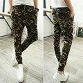 2016 mejor venta de tiempo de ocio camuflaje Haren pantalones Lápiz ropa de camuflaje militar del ejército de campo corredores pantalon homme