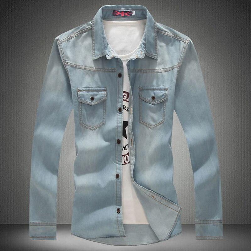 2016 New Arrival Brand Men Shirt Casual mens Fashion Denim Shirts with Long Sleeve Men s