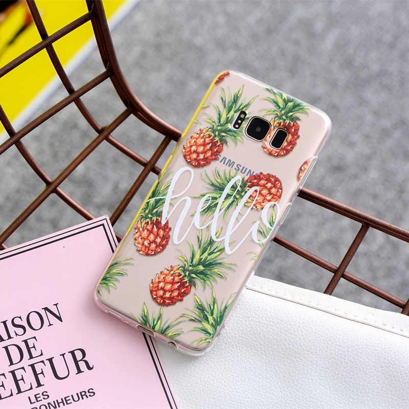 THREE-DIAO Silicone Bag Case For Samsung Galaxy A5 A3 J5 2015 2016 2017 S9 S8 S7 S6 Edge J5 J2 Prime Pattern Phone Cover Coque